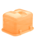 Plastic Cake and Cupcake Carrier - Saffron Yellow