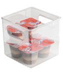 Clear Plastic Storage Bin - 6 inches by 6 inches