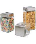 Stackable Glass Kitchen Canisters
