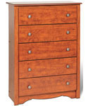 Monterey Five-Drawer Chest - Cherry