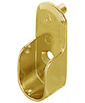 Oval Wardrobe Tube Support - Polished Brass