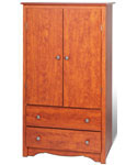 Monterey Two-Door Armoire - Cherry