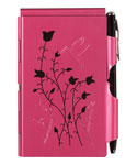 Flip Notes Pen and Notepad - Raspberry Hummingbird