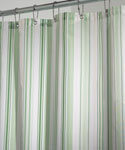 Fabric Shower Curtain - Green Essex Stripe