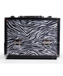 7 Compartment Makeup Case - Zebra