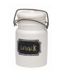 Ceramic Chalkboard Jar and Lid