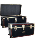 Vintage Storage Trunk With Wheels - 31 inch