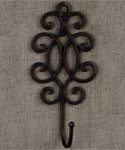 Decorative Wrought Iron Wall Hook