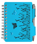 Blue Butterfly Password Book with Pen