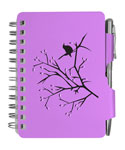 Purple Bird Password Book with Pen