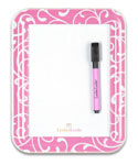 Pink Scroll Magnetic Locker White Board