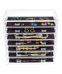 Seven-Drawer Acrylic Jewelry Chest