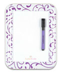 Purple Scroll Magnetic Locker White Board