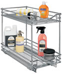 Deep Two-Tier Sliding Cabinet Organizer - 11 Inch