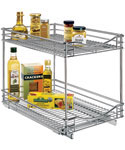 Deep Two-Tier Sliding Cabinet Organizer - 14 Inch