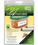 Jokari Erasable Food Storage Container Labels