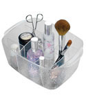 Rain Divided Cosmetic Organizer Bin