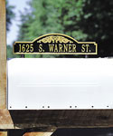 Scroll Two-Sided Mailbox Address Marker