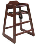 Wooden High Chair - Cherry