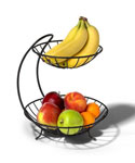 Black Two Tier Fruit Bowl