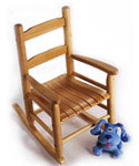 Childrens Rocking Chair - Pecan
