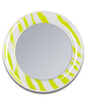 Lime Green Zebra Print Magnetic Locker Mirror