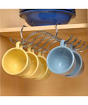 Under The Shelf Steel Cup Holder - Chrome