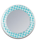 Aqua Blue Magnetic Locker Mirror