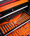 Silicone Drawer Organizer Liner System - Orange
