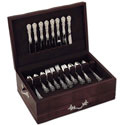 Handmade Wooden Flatware Chest - Mahogany