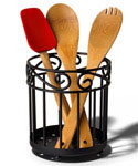 Wrought Iron Kitchen Utensil Holder