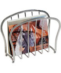 Floor Magazine Rack - Chrome