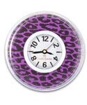 Purple Cheetah Print Locker Clock