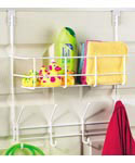 Over the Door Storage Basket and Hooks