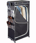 Denier Clothing Wardrobe with Shoe Pockets