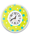 Green Polka Dot Print Locker Clock