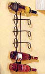 Wall Mounted Wine Rack - 6 Bottle