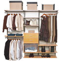 FreedomRail Closet Shelving System - Maple