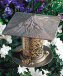 6 Inch Tube Bird Feeder - Pinecone