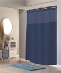 Hookless Fabric Shower Curtain - Navy