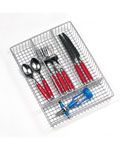 Chrome Wire Flatware Drawer Organizer