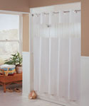 Hookless Fabric Shower Curtain - White