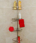Stainless Tension Pole Shower Caddy