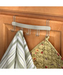 Over the Cabinet Door Towel Holder