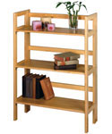 Three Tier Folding Book Shelf - Natural