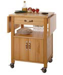 Wood Kitchen Cart With Drawer