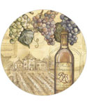 Tempered Glass Lazy Susan - Vineyard