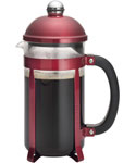 Bonjour French Press Coffee Pot - Red