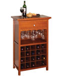 20 Bottle Wine and Stemware Cabinet