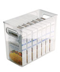 Clear Plastic Storage Bin - 10 inches by 8 inches